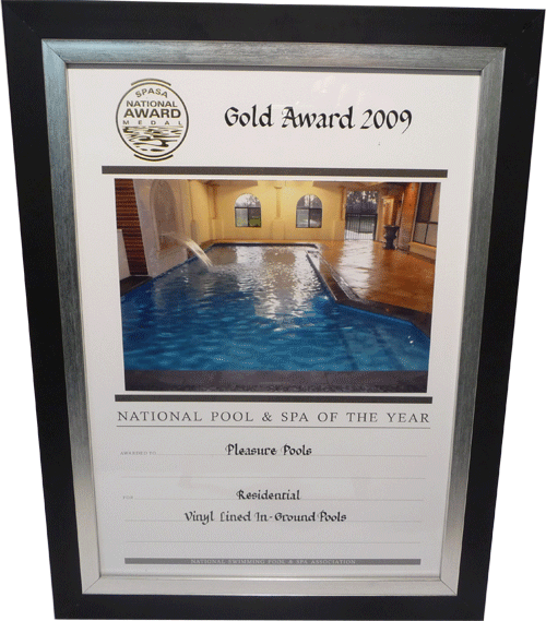 National Pool and Spa of the Year 2009 residential vinyl lined in ground pools